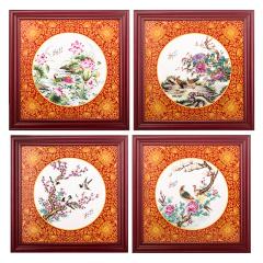 王国喜《四季花开》瓷板画珍藏