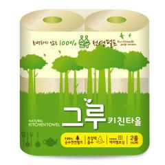 韩国原装进口木之惠Greu厨房用纸2卷装