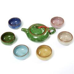 金镶玉 功夫茶具 七彩冰裂套组 陶瓷茶壶茶杯套装