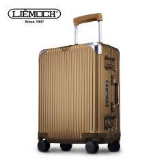 利马赫(liemoch)英皇系列24英寸男女万向轮智能旅行拉杆箱 香槟色