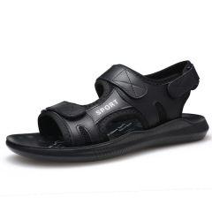 2020新款男士沙滩鞋 真皮头层牛皮网布男鞋时尚休闲鞋子