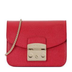 【香港直邮】Furla 芙拉 红色牛皮 女士单肩挎包 851170