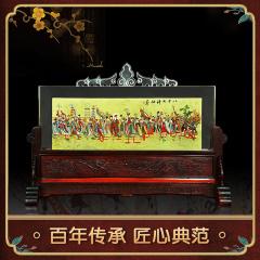 中艺盛嘉王习三王又三内画收藏品八十七神仙卷内画屏风隔断带底座