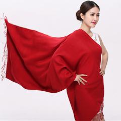 韩版羊毛围巾女 冬季长款羊绒披肩两用百搭纯色 加厚保暖情侣围脖