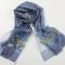 丁摩2017年新款桑蚕丝真丝羊毛高档刺绣围巾丝巾