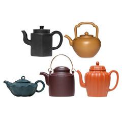 五色土紫砂茶具珍藏套组