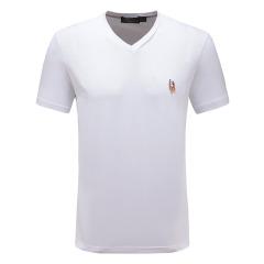 皇家棕榈马球俱乐部 男士短袖休闲V领纯色T恤男T恤13722401