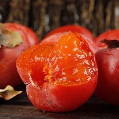 陕西火晶柿子 绿色无污染 甜如蜜汁 皮薄无核 新鲜采摘 现摘现发