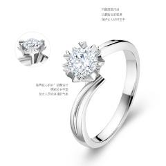 DODOBEL WOMEN 18K金白色经典永恒天然钻石钻戒23分