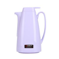 施美乐SIMELO 保温壶1.0L 玻璃内胆四喜暖壶咖啡壶水壶 印象京都系列 紫色