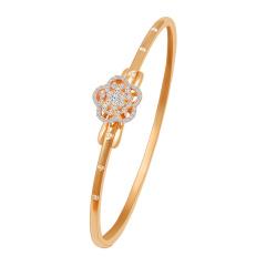 芭法娜 花荀 法式简约18K金钻石手镯 一款两戴 可以做手镯可以当吊坠