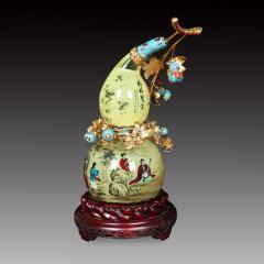 中艺盛嘉收藏品王习三葫芦内画福禄双全家居摆件艺术品送礼礼品