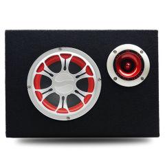 韩国现代车载音响汽车低音炮 三用12V/24V/220V有源音箱USB插卡