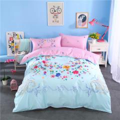 VIPLIFE高端精梳长绒棉纯棉四件套 高支高密活性印花全棉床单被套-花香弥漫