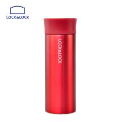 乐扣不锈钢食品级材质保温杯绚丽马克杯黑红340ml
