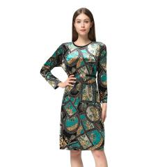 DS法式3D丝绒裙