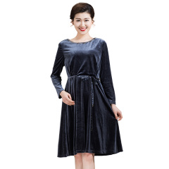 DS金丝绒优雅连衣裙