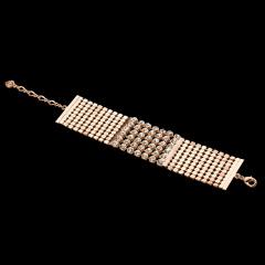 LR网眼爪镶晶钻宽型手链 货号115090