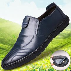 俊斯特春新款韩版男懒人潮鞋圆头豆豆鞋运动风板鞋