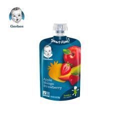 【临期促销】(6月底到期)嘉宝苹果芒果草莓果泥 100g/香港直邮