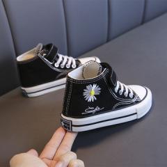 贝贝  2020GD联名同款雏菊帆布鞋 2020春季新款女鞋休闲儿童魔术贴防水童鞋