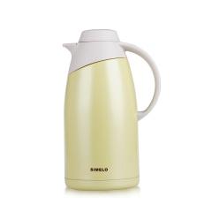 施美乐SIMELO 保温壶2.0L 不锈钢山顶保温瓶暖壶咖啡壶 印象京都系列 米黄色