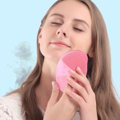 璐瑶电子美容仪粉色 无线充电洁面仪 亮肤嫩白 深层清洁 声波震动洗脸仪器 刷神器 洗面仪
