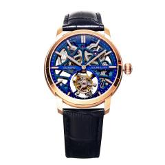 钻石牌陀飞轮镂空机械腕表