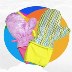 YCMTEX加长袖口升级版神奇魔术木纤维加长保暖防水去油污去污洗碗手套
