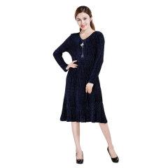 DS梦纳尔丝绒连衣裙  货号123906