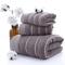 斜月三星欧洲风情3条装水波纹加厚毛巾 家用成人毛巾浴巾三件套
