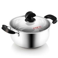 炊大皇不锈钢汤锅304加厚不锈钢锅家用汤锅电磁炉通用锅具无涂层