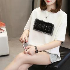 2020夏装新款韩版加肥加大码女装胖mm短袖t恤女宽松上衣服潮