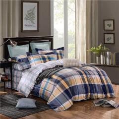 【VIPLIFE家纺 全棉四件套纯棉床上用品床单被套简约时尚风格床品套件】
