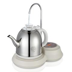 欧博(OPO)S101 自动上水电热水壶 加抽水器茶具电茶壶304不锈钢烧水壶珍珠白
