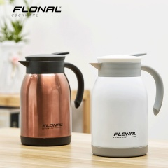 FLONAL斯罗尼保温壶家用水壶304不锈钢一键出水壶大容量900ML