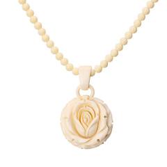 工美珠宝真爱一生玫瑰花吊坠