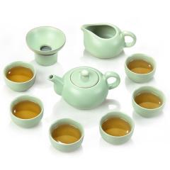 金镶玉 汝窑怡然套组 汝瓷开片陶瓷茶具整套