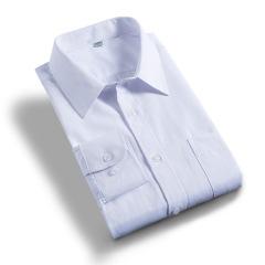 男士商务休闲长袖衬衫韩版修身免烫男式白色衬衣春秋季男职业正装