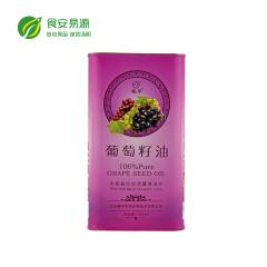 鲲华葡萄籽油1000ml铁罐装食用油