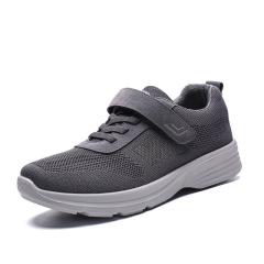 夏季新款透气老人运动健步鞋 中老年妈妈鞋女单鞋防滑老人鞋子女