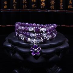 熙益 紫水晶气质手链旺夫纳福招财女款饰品