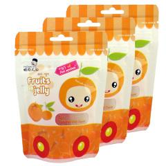 韩国进口帕克大叔橘子味果汁软糖3袋装
