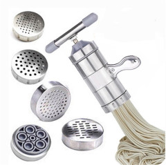 不锈钢家用小型手动面条机厨房手摇压面器
