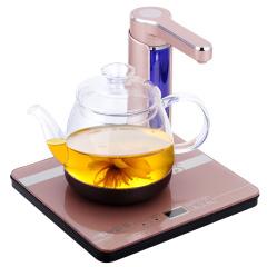 欧博(OPO)S112 电热水壶自动旋转上水抽水电水壶玻璃养生壶玫瑰金