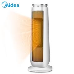 美的  暖风机2000W预约定时远红外遥控倾倒断电预约定时家用电暖气器节能电暖炉70°广角摇头取暖器