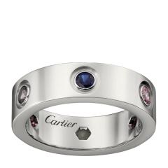 CARTIER/卡地亚 LOVE系列18K金镶嵌宝石水晶指环戒指B4090500 预售