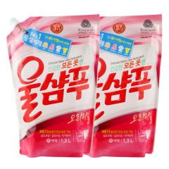 韩国原装进口爱敬羊毛洗衣液2袋装