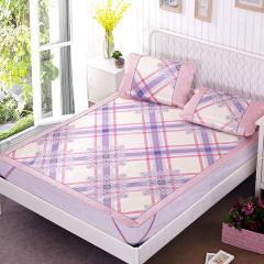 VIPLIFE家纺夏季凉席三件套1.5/1.8m床可折叠空调席 双人夏天冰凉席子