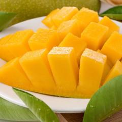 【大口吃芒果,皮薄核小】越南现摘大青芒 当季新鲜 果肉肥厚  香气四溢  鲜嫩多汁